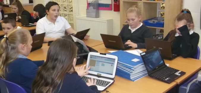 Children's work during Computer Science Week