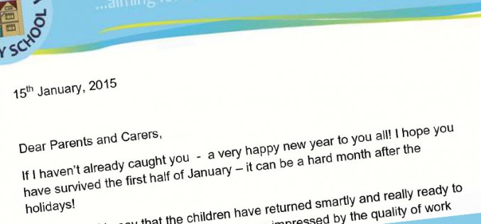 Spring term letter from the Head Teacher