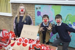 Comic Relief: Children sell goodies to parents