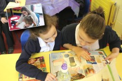 Parent volunteers support children reading