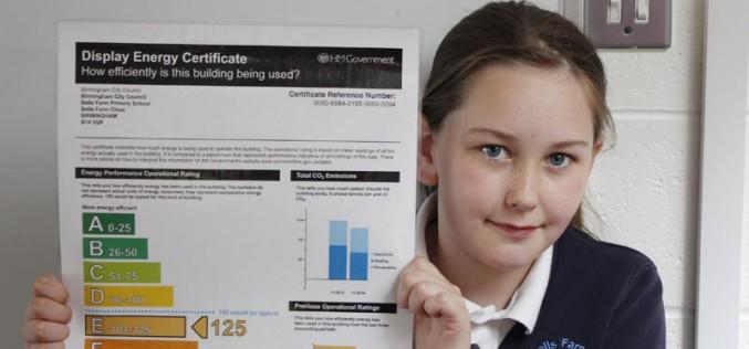 Energy certificate shows efficiency progress