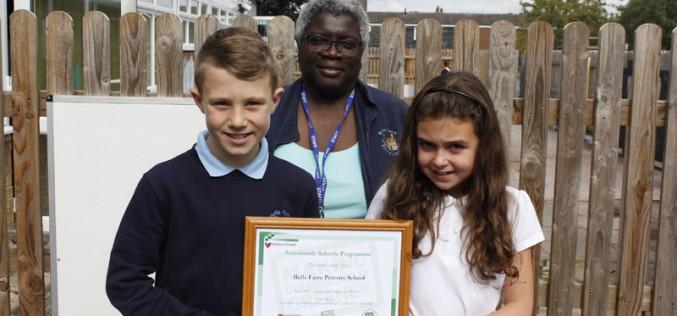 Bells Farm receive Sustainable Schools certificate