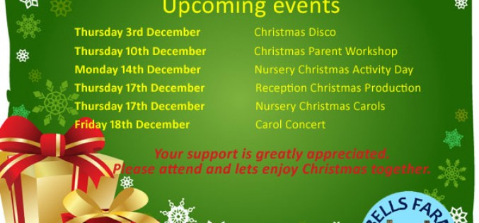 Christmas 2015 – Upcoming events