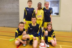 4-a-side football team win two games