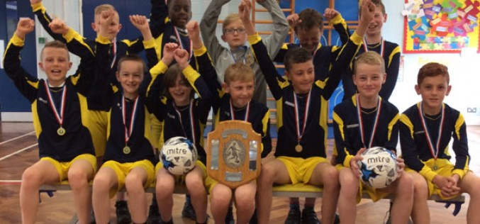 7-a-side football champions!