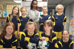 Girls take part in summer league 7-a-side