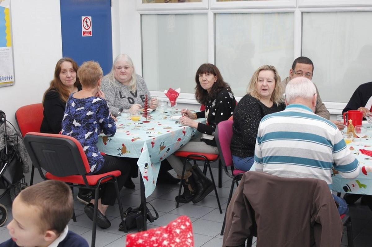 Grandparents Christmas dinner and choir