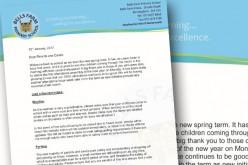 Spring term letter from the Headteacher