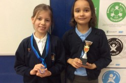 Year 4's Cara and Tiffanie excel in gymnastics