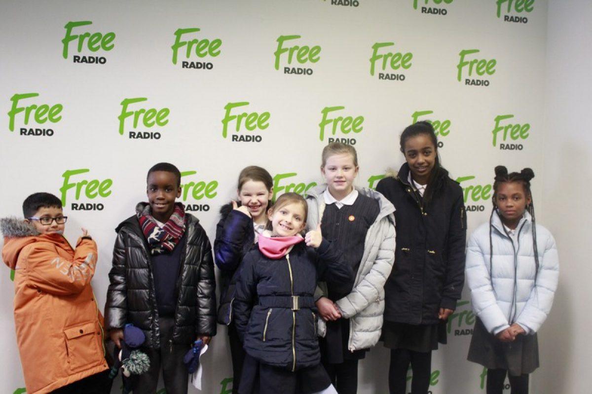 Radio Whiz presenters visit Free Radio