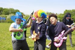 Year 6 celebrate SATS hardwork with a conga!