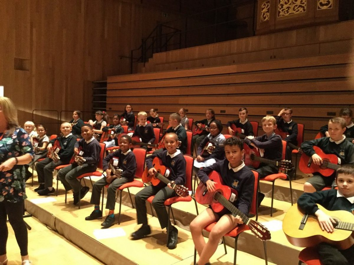 Year 4 take part in music concert