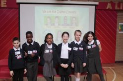 Digital Council perform an assembly at Oratory Primary