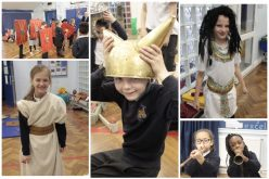 Photos of Year 3 & 4 'History Man' workshops