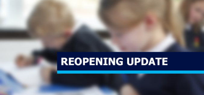Letter – Further Details On Reopening School