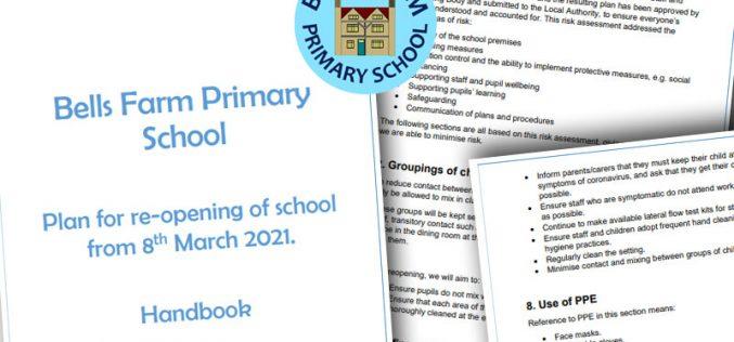 Parent Handbook – Full School Re-opening